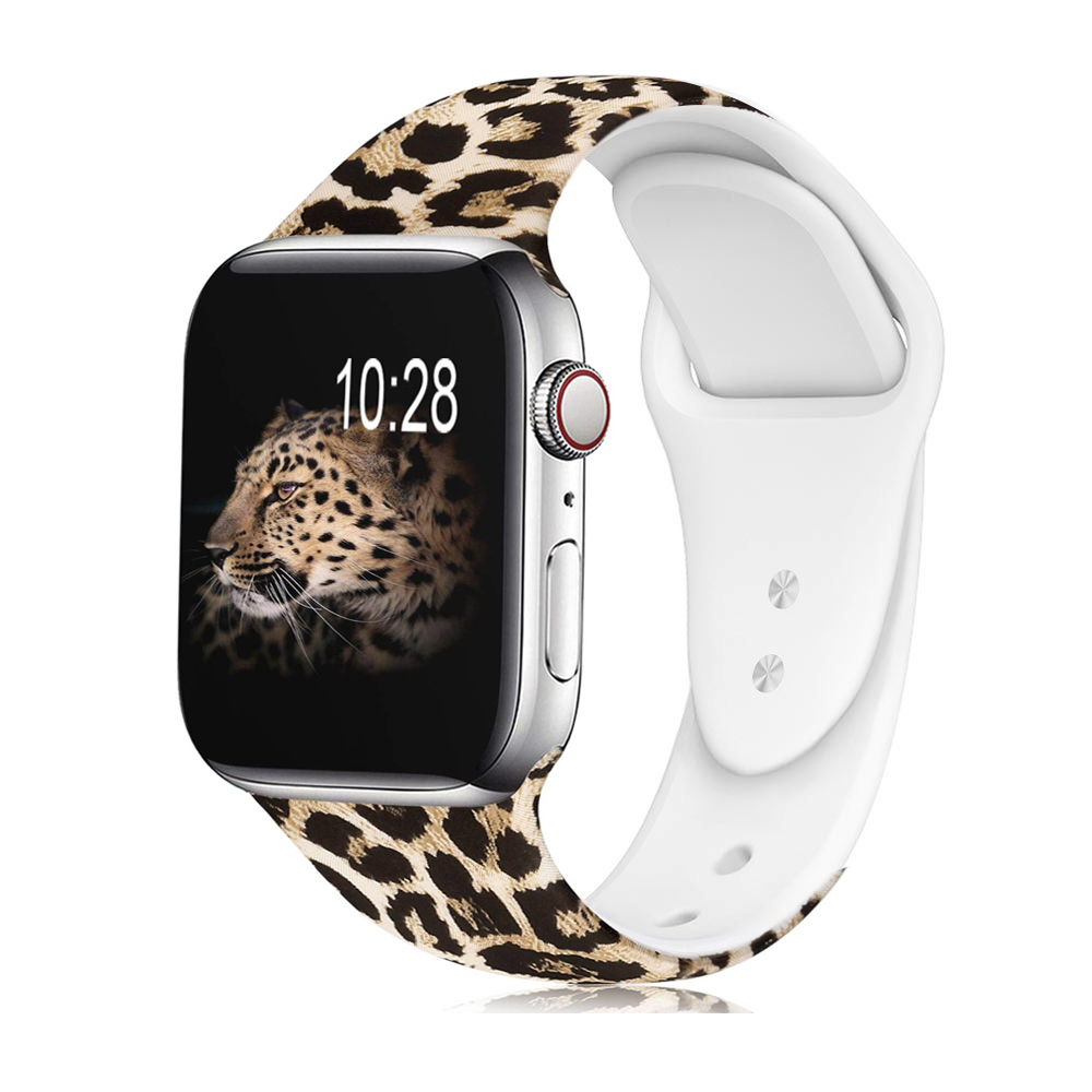 printed silicone apple watch band