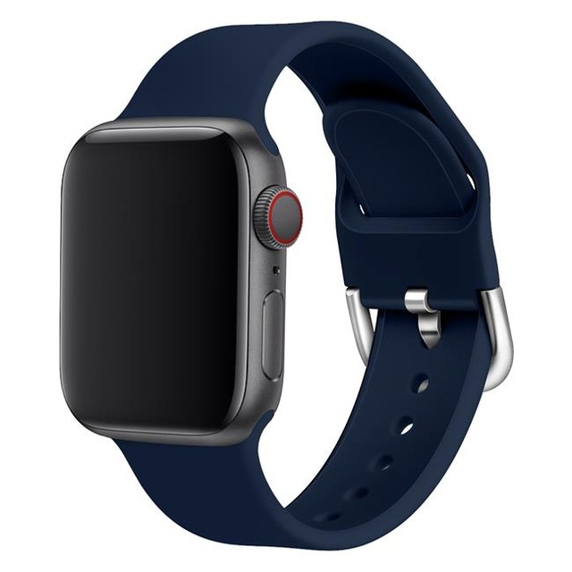 Replacement silicone sport band strap for Apple watch