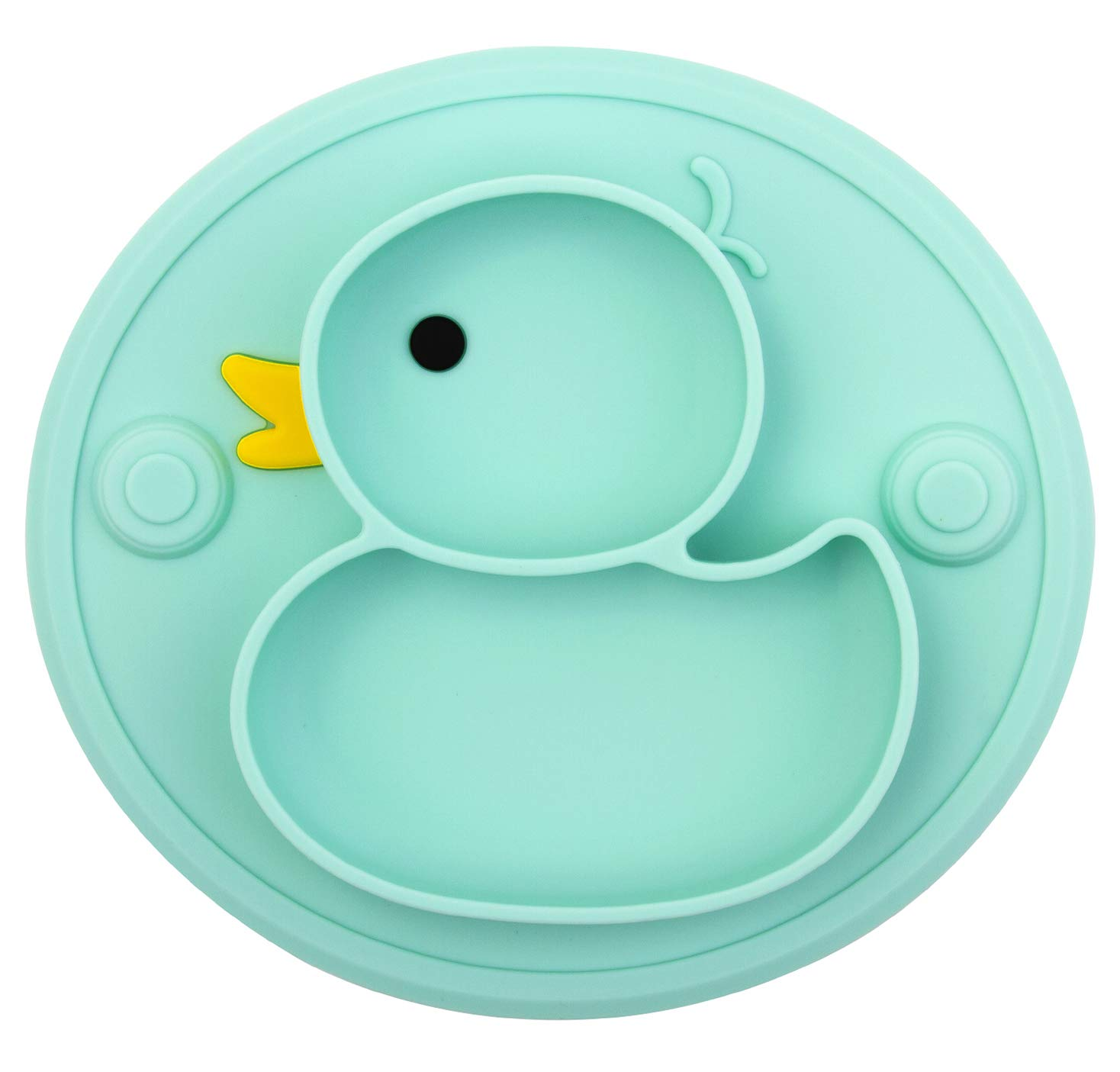 silicone baby dinner plate