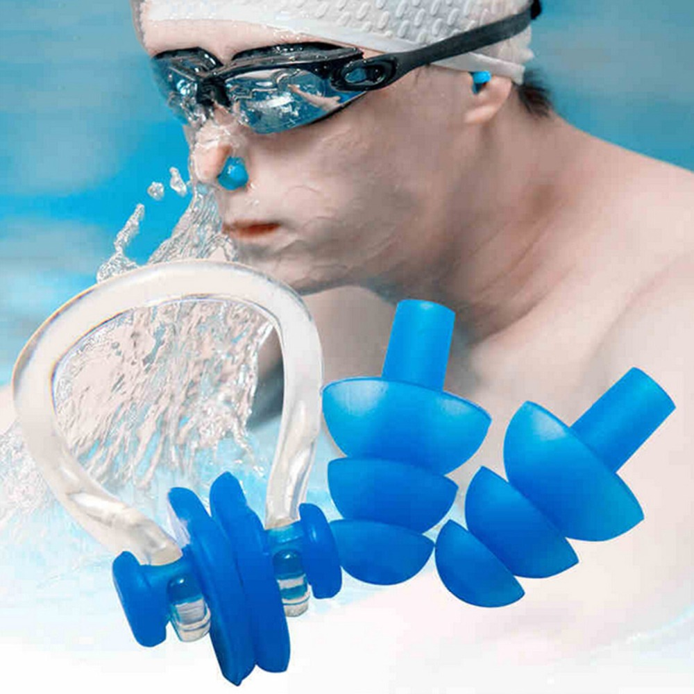silicone swim ear plug and nose clip